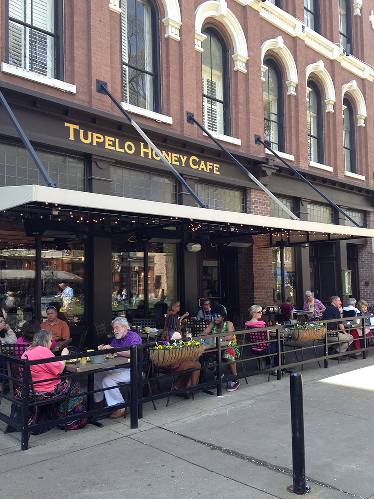 Outdoor dining in Knoxville at Tupelo Honey Cafe