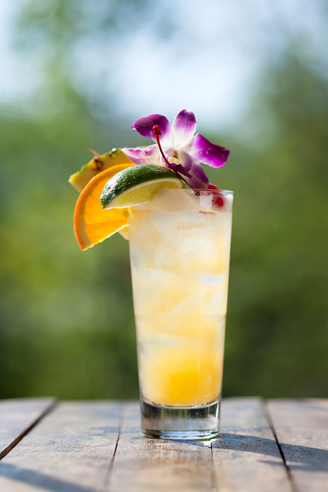 Carolina Peach Mai Tai with Muddy River Distillery Rum