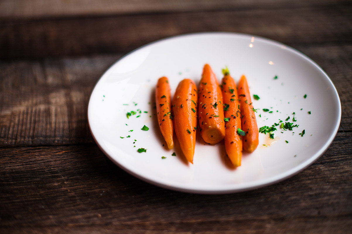 Fresh carrots glazed with Tupelo Honey