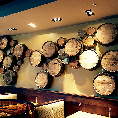 Custom Living Quarters Whiskey Barrel Art - Tupelo Honey Cafe in Franklin