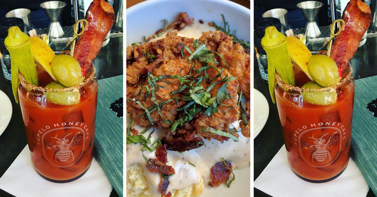 food glam friday: bloody mary and chicken and biscuits