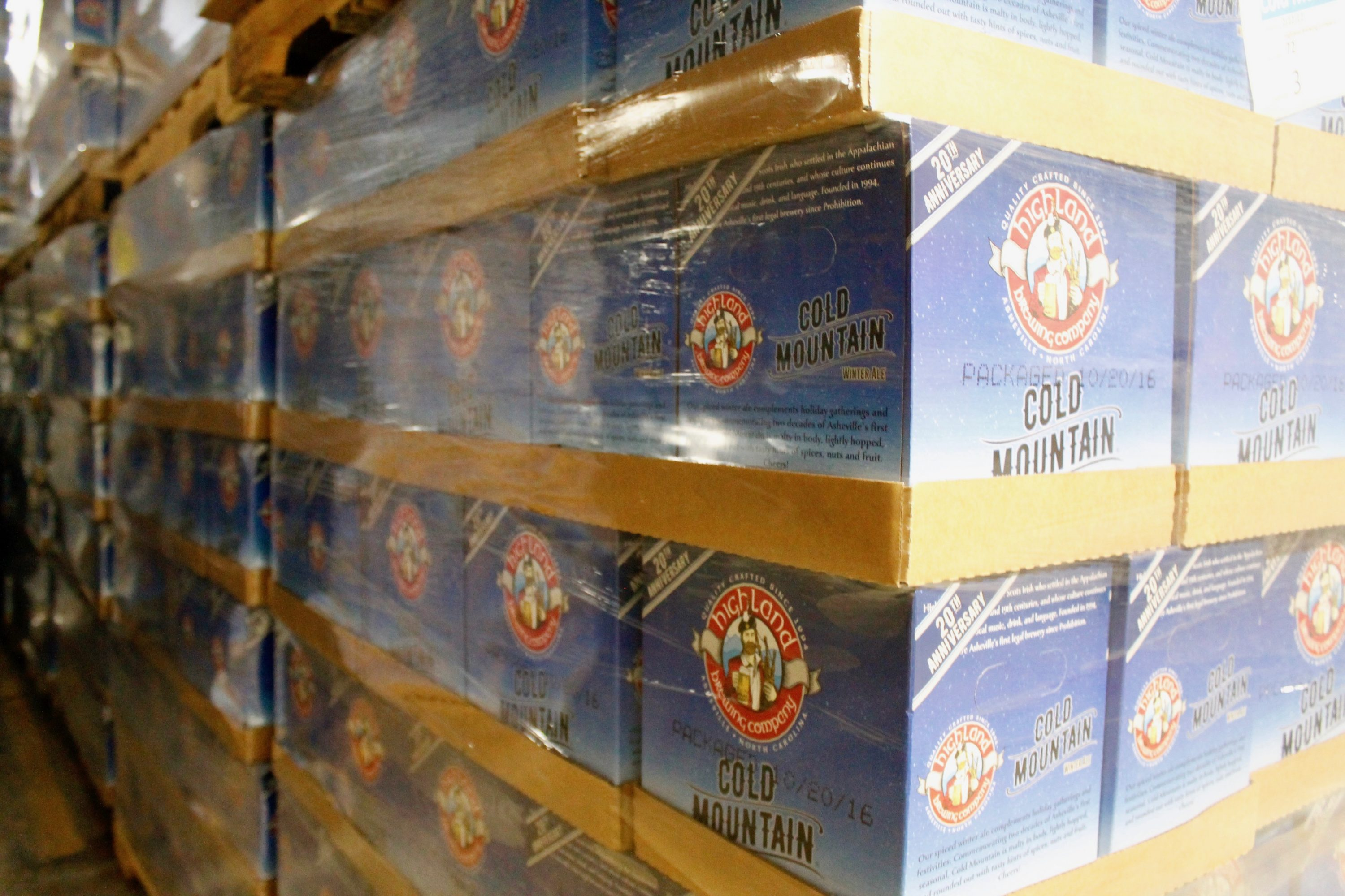 Cases of Cold Mountain Winter Ale